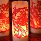 single papercut luminaries